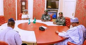 President Buhari with Service Chiefs