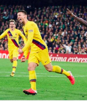 Barcelona were six points behind La Liga leaders Real Madrid at kick-off