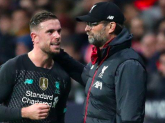 Captain Jordan Henderson with Jurgen Klopp