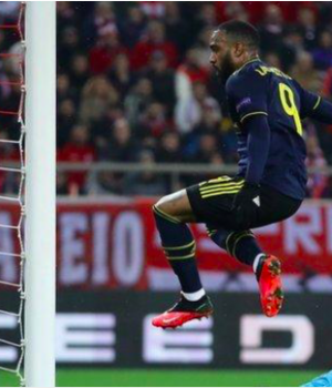 Alexandre Lacazette fired in his eighth goal of the season