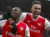 Aubameyang celebrates with team mate