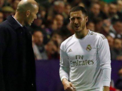 Eden Hazard with Coach Zidane