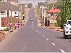 The road built by Gov. Akeredolu in Jegede's neighbourhood