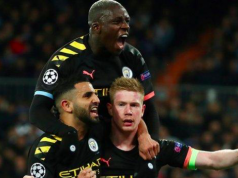 Man City players celebrate outstanding outing at Los Blancos