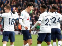 Son, teammates celebrate victory over Villa
