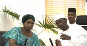 Abike Dabiri-Erewa with FCT Minister, Malam Muhammad Musa Bello