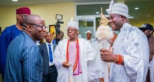 Ooni of Ife with Gov. Fayemi