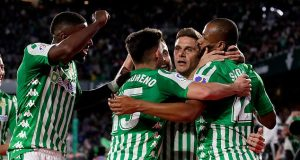 Real Betis celebrate victory over Real Madrid