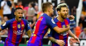 Barca celebrate victory over Real Sociedad