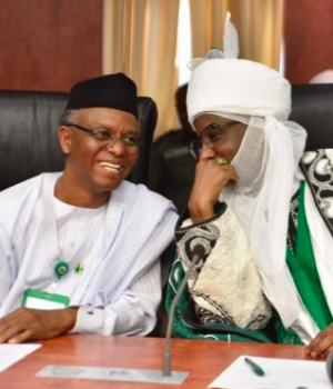 Gov. Nasir el-Rufai and Muhammadu Sanusi, deposed Kano Emir