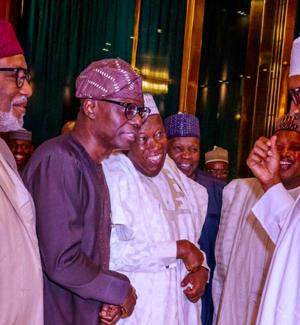 President Muhammadu Buhari with some APC Governors