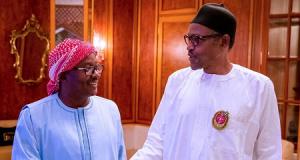 Umaro Sissoco Embalo with President Buhari in Aso Rock