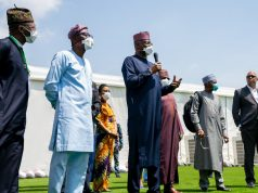 Boss Mustapha, Santo-Olu and other members of the Presidential Task Force on COVID-19