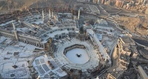 Aerial view of the Holy site in Makkah