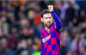 Lionel Messi's Barcelona were leading in La Liga when the league was halted