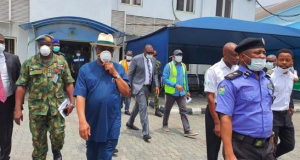 Gov. Wike's earlier visit to Caverton Helicopters
