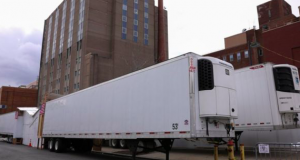 Refrigerated tractor trailers serve as temporary morgues in New York City