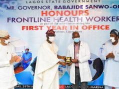 Gov. Sanwo-Olu celebrates health workers