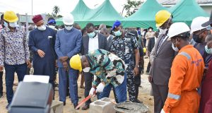 NNPC-led consortium at the foundation laying ceremony of hospital in Yenagoa