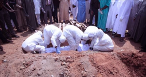 The late Abba Kyari's burial