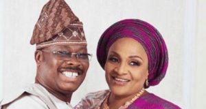 Late Abiola Ajimobi-and wife, Florence