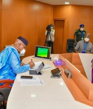 Gov. Dapo Abiodun with the new Head of Service