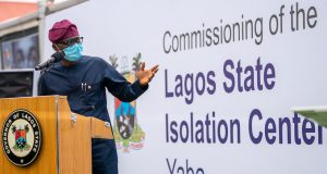 Gov. Sanwo-Olu commissions solation Centre