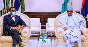 President Buhari with Akinwunmi Adesina