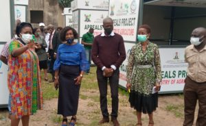 Lagos State Acting Commissioner for Agriculture, Ms. Abisola Olusanya with other officials