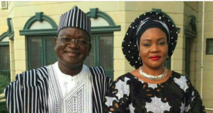 Gov. Ortom and wife, Eunice