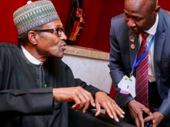 President Buhari with Magu