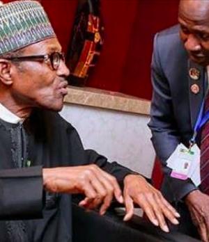 President Buhari with Magu