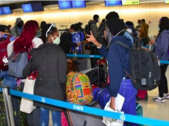 Nigerians being evacuated from the US