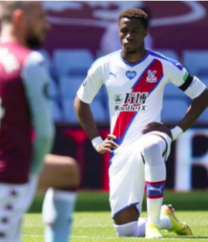 Wilfried Zaha received abusive messages on social media before Sunday's match at Aston Villa