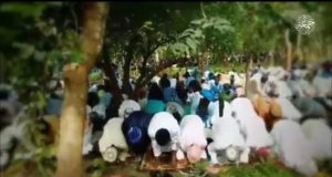 Some alleged Boko Haram terrorists observing Eid Al-Adha solat