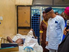 Gov. Dapo Abiodun inspecting one of the OOUTH wards