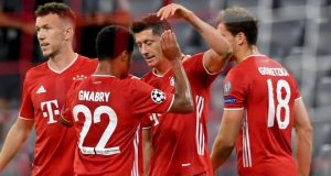 Bayern Munich players celebrate huge victory over Chelsea