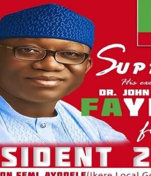 Gov. Kayode Fayemi's campaign poster