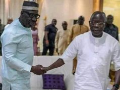 Gov. Godwin Obaseki and Adams Oshiomhole