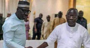 Gov. Godwin Obaseki and Adams Oshiomhole