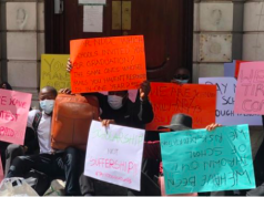 NDDC Scholars protest in UK