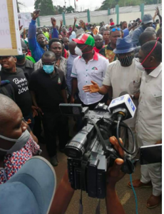 Gov. Obaseki and his deputy, Philip Shuaib visited the other faction