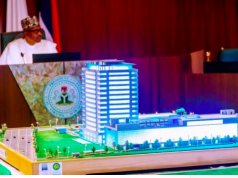 President Buhari at the virtual launch of NCVMB