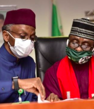 Gov. El-Rufai with one of the CAN leaders