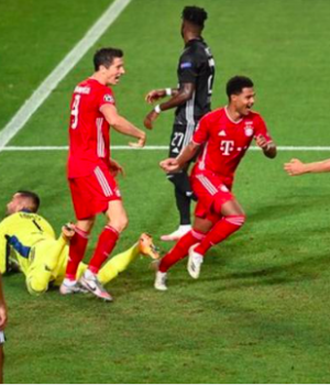 Serge Gnabry has scored eight goals in his last eight Champions League games