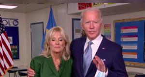 Democrat's Joe Biden and his wife Jill Biden