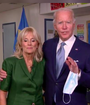 Democrat's Joe Biden and his wife Jill Biden