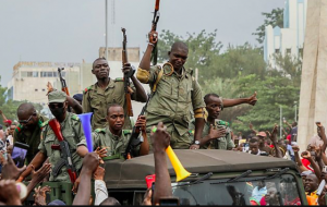 The mutinying soldiers were cheered by crowds as they reached the capital Bamako on Tuesday