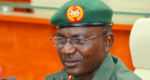 John Enenche, coordinator of defence media operations