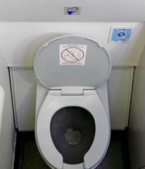 Air plane toilet (Illustrative picture)